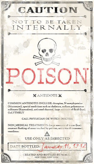 Poison label