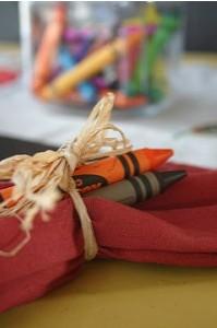 Crayon napkins