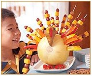 Fruit kabob turkey