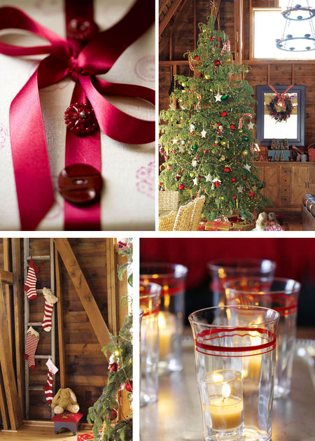 Cottage christmas collage