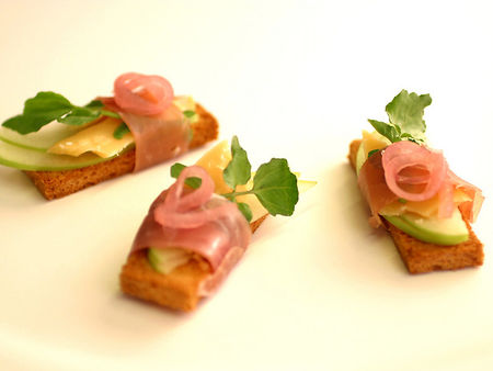 Grown up ham and cheese finger sandwiches