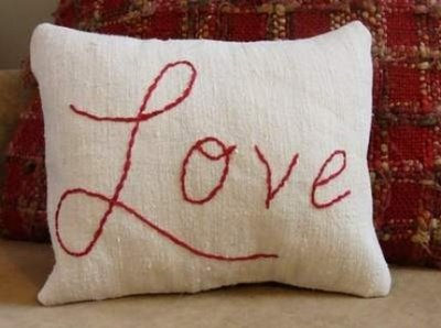 Love pillow  flax and spindle etsy
