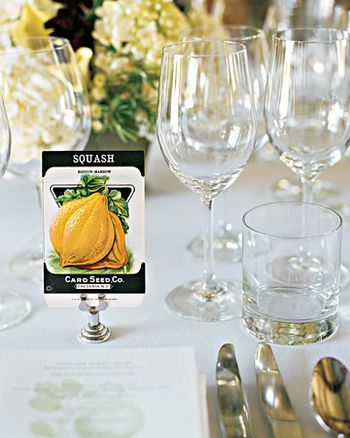 Table numbers seating ideas