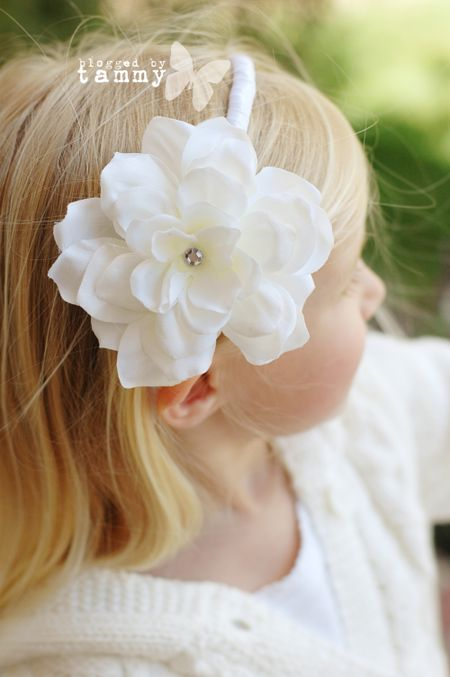 Ash white headband web