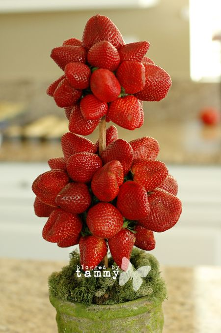 Strawberry topiary 4