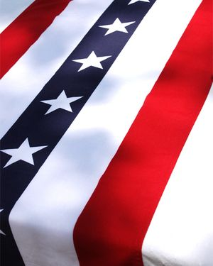 American flag bunting social coture