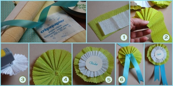 Life In Pictures Diy Week Day 5 How To Make Crepe Paper Rosettes